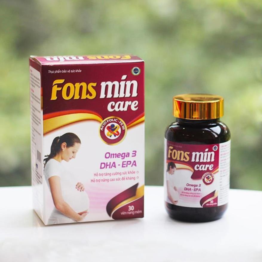 [CHÍNH HÃNG] Bổ sung DHA, EPA, Vitamin và khoáng chất cho bà bầu - Fons Mincare 30 viên