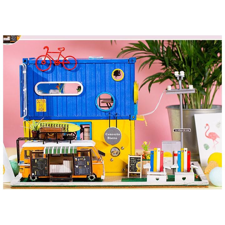 Mô Hình Nhà Gỗ DIY Hello mùa hè