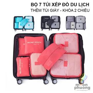 Set bộ 7 túi đựng đồ du lịch dày size lớn đa năng sắp xếp đồ tiện dụng – MUÔN PHƯƠNG SHOP