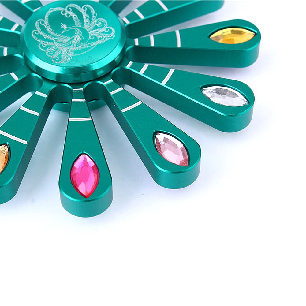 Peacock Hand Fidget Finger Spinner Tri EDC Focus ADHD Desk Toy For Kid Adult