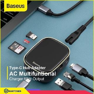 Bộ USB Hub Baseus 7 in 1 Type C ra HDMI USB 3.0 SD TF RJ45 hỗ trợ sạc PD 60W cho Macbook, Laptop, Điện thoại..