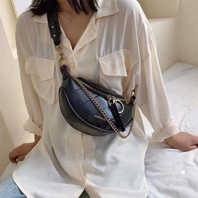 Túi đeo bụng nữ chất xịn hottret 573
