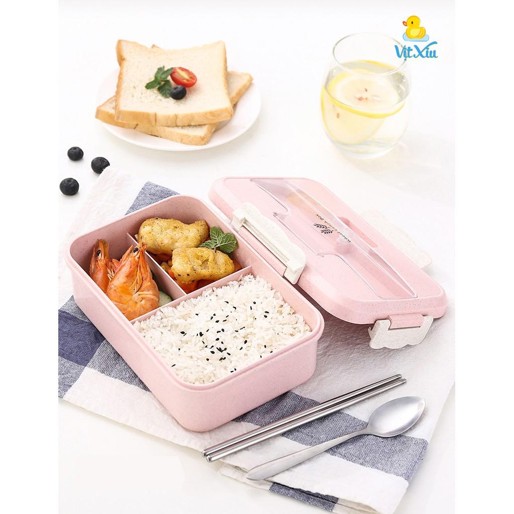 Hộp đựng cơm văn phòng, Hộp cơm trưa, Hộp đựng thức ăn, thực phẩm, Bao gồm cả túi và muỗng nĩa