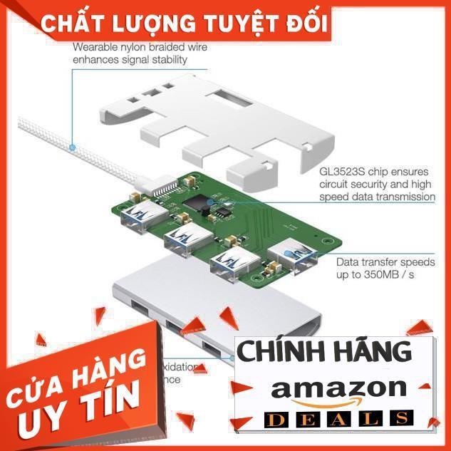Hub chuyển đổi cổng Usb C hiệu Poweradd, Hàng Xách Tay Amazon