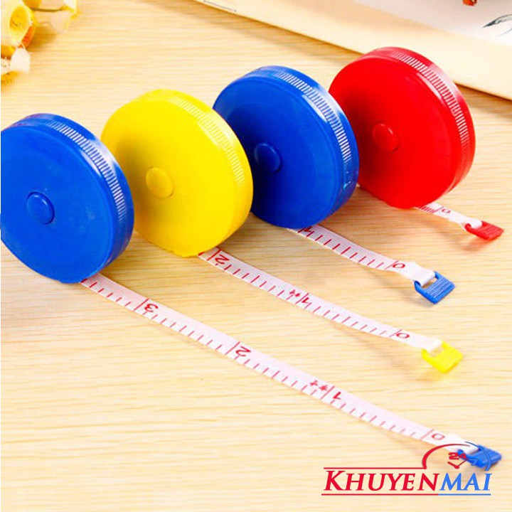 Thước cuộn mini may đồ nhỏ gọn 150cm – Thước dây rút đo quần áo