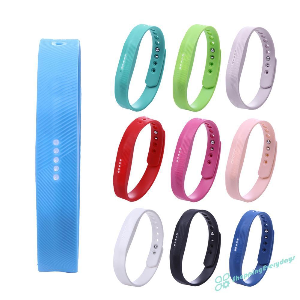 Dây Đeo Thay Thế Chất Liệu Silicon Màu Trơn Cho Fitbit Flex 2