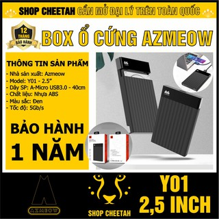 Box ổ cứng 2,5inch AZMEOW Sata3 – USB3.0 – CHÍNH HÃNG – Bảo hành 12 tháng – Box HDD – Box SSD