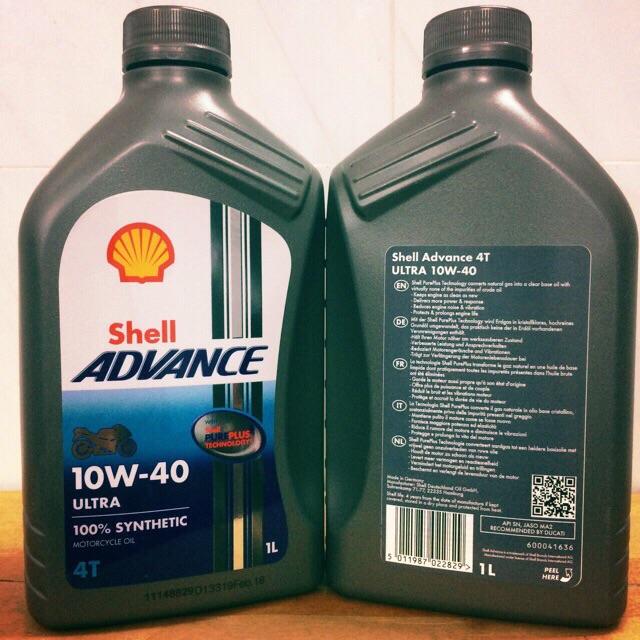 Shell Châu Âu - Nhớt Shell Advance Ultra 10w-40 + Ốc Dầu/Nhớt Nam Châm Kozi Malaysia