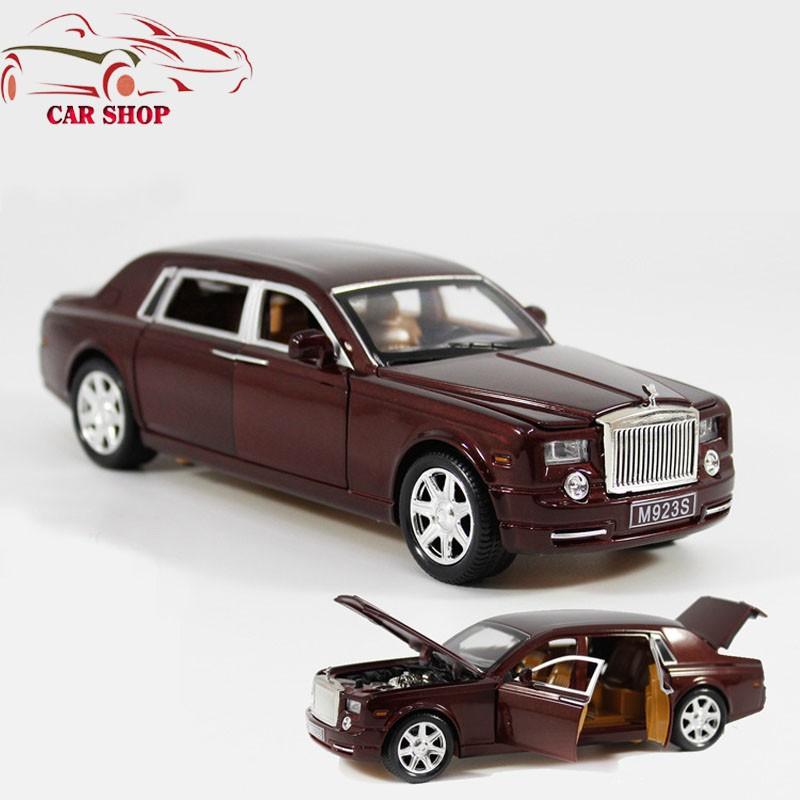 Xe mô hình sắt Rolls-Royce Phantom nâu tỉ lệ 1:24...
