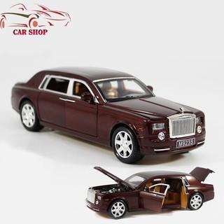 Xe mô hình sắt Rolls-Royce Phantom nâu tỉ lệ 1:24 giá rẻ