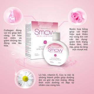 Dung dịch vệ sinh phụ nữ Smoovy giúp nuôi dưỡng và trẻ hoá da vùng kín 2