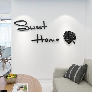 Tranh Dán Tường Mica 3D Sweet Home Trang Trí Phòng Bếp Nhà Ăn Nhà Hàng