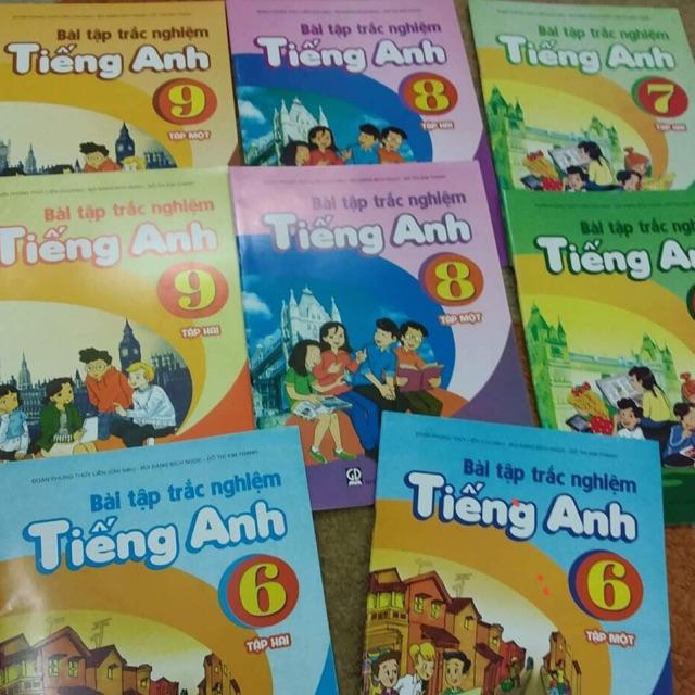 Sách - Bài tập trắc nghiệm tiếng anh lớp 6,7,8,9 ( tổng trọn bộ 8 cuốn ) - 2400008