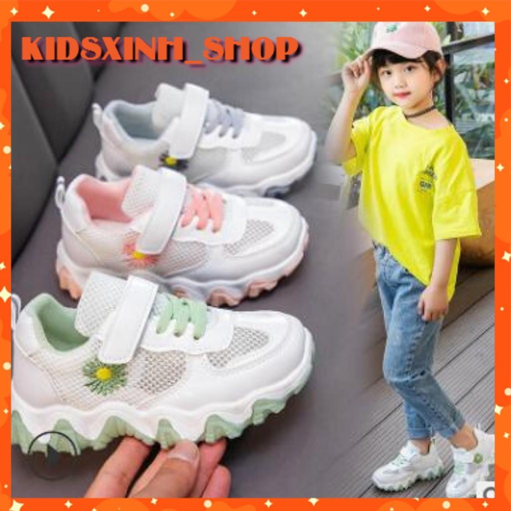 Giày Thể Thao Bé Gái♥ FREESHIP ♥ Giày Sneaker Bé Gái Thời Trang Thuê Hoa Cúc