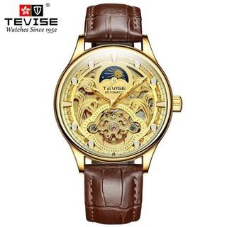 (Mẫu Mới) Đồng hồ nam cơ cao cấp chính hãng tevise t820d dây da (tặng kèm hộp) thumbnail