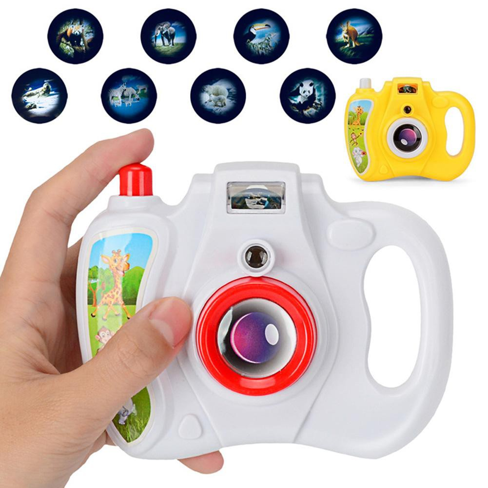 Baby Cartoon Simulation Eight Light Patterns Projection Camera Toy for Children