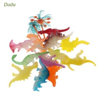 Dudu 12pcs Glow In The Dark Luminous Jurassic Dinosaur Toy Model Toys Kids Gift