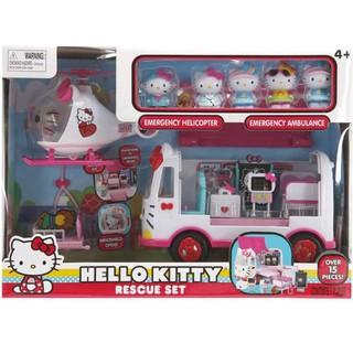 Set Đồ chơi Hello Kitty và máy bay cứu thương