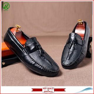 Giày mọi chuông da vân cá sấu- M117