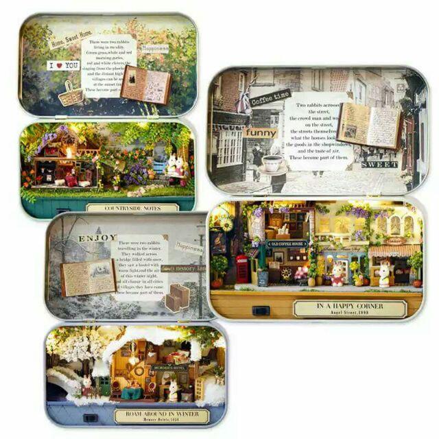 Mô hình nhà gỗ búp bê dollhouse DIY – Q004A Q005A Q006A Box Theatre