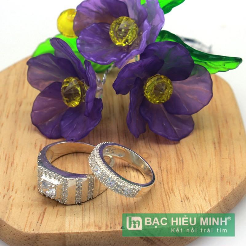Nhẫn đôi BẠC HIỂU MINH nc510 chung đôi