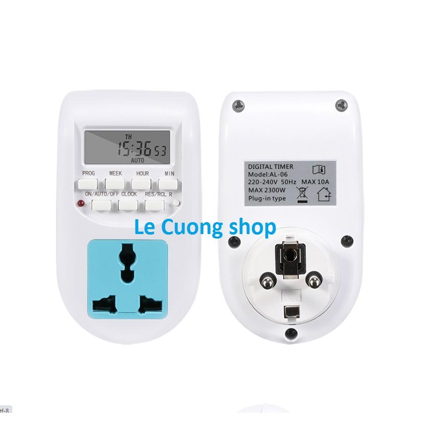 Ổ cắm hẹn giờ điện tử AL-06 220v,công tắc hẹn giờ, đui đèn cảm ứng,công tắc điều khiển từ xa