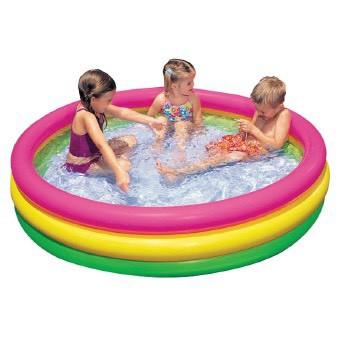 Bể bơi phao tròn 3 tầng cho bé rộng 1M8 và đồ chơi