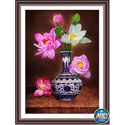 Tranh thêu chữ thập 3D Hoa Sen Ngát Hương A1150