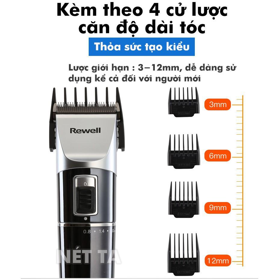 Tông đơ cắt tóc 2 tốc độ màn hình LCD Rewell RFCD – S7 đế sạc chuyên nghiệp  360 độ, pin trâu 6 tiếng bảo hành 6 tháng