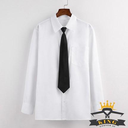 Cà vạt học sinh công sở nữ KINGCHUYENSI bản nhỏ 6cm, 5cm, Sinh viên, Công sở, Hàn quốc, Nam sinh, Màu đen, Màu đỏ