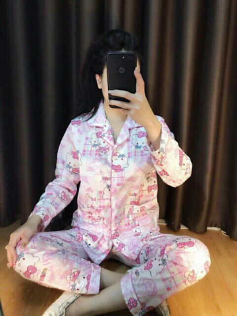 Bộ Pijama thu đông CHẤT THUN COTTON
