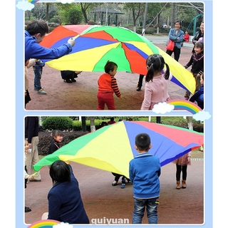 With Handle Attractive Rainbow Outdoor Children Parachute