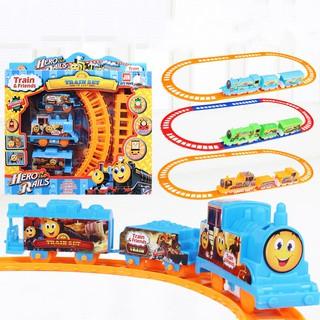 Đường ray xe lửa chạy pin cho bé – đồ chơi mô hình (giao màu ngẫu nhiên)