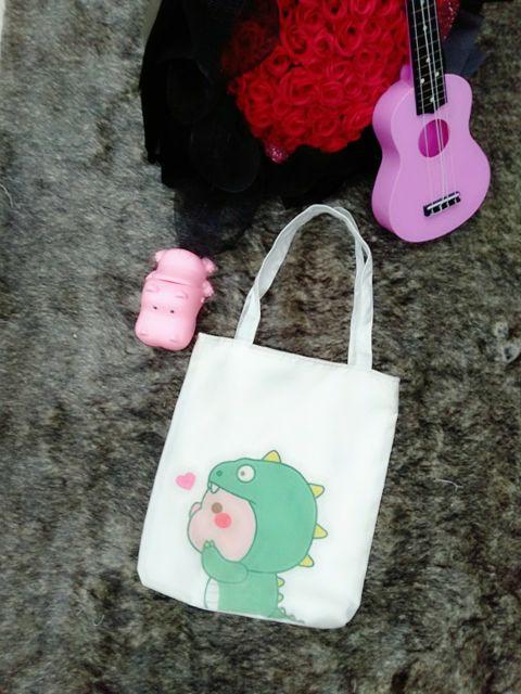 Túi đeo vai vải mềm - KHỦNG LONG 2