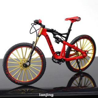 1:10 Simulate Riding Free Standing Children Toy Photography Props Birthday Gift Home Decor Zinc Alloy Bike Model