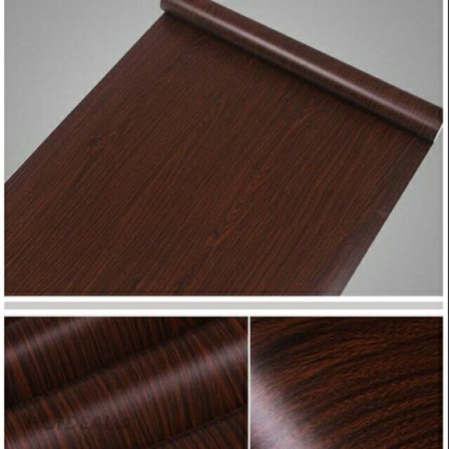 Giấy dán tường vân gỗ nâu