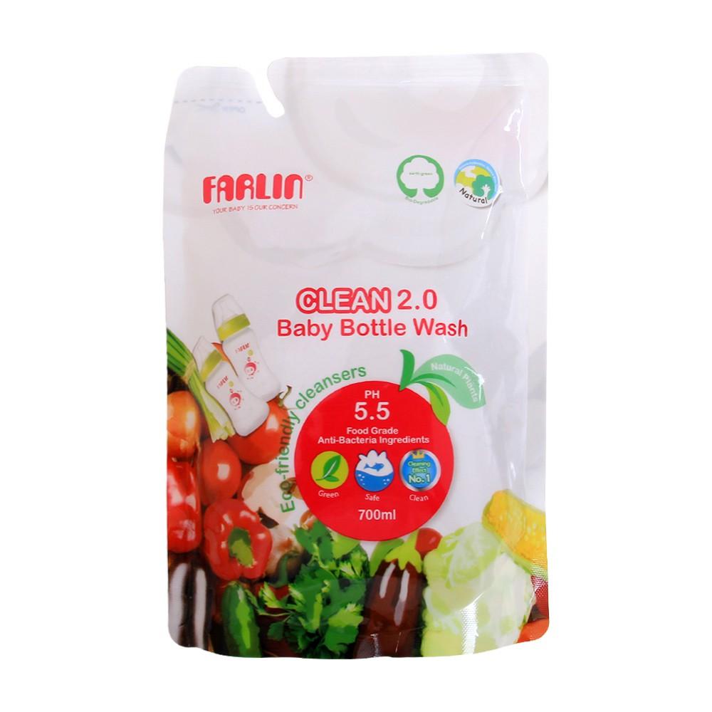 Nước rửa bình sữa Farlin AF10005 700ml (dạng túi) M051
