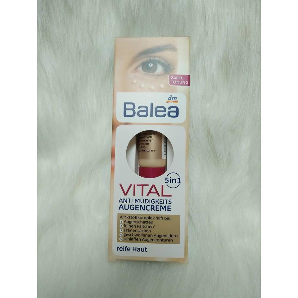 Kem dưỡng mắt Balea Vital 5in1cho tuổi trên 40