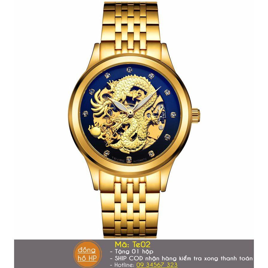 Đồng hồ cơ nam Tevise Rồng