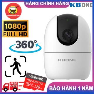 Camera Wifi KBONE KN-H21PA Xoay 360 độ, Full HD 1080p, phát hiện chuyển động, đàm thoại 2 chiều HÀNG CHÍNH HÃNG thumbnail