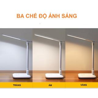 Đèn Bàn Học Đọc Sách, Làm Việc (Học Sinh, Sinh Viên, Văn Phòng) LED Chống Cận, Cảm Ứng Tích Điện Gập 2 Chỗ - hình 2