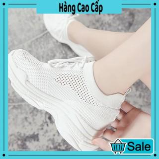 Giày nữ độn đế đẹp cổ chun mới nhất 2020 (trắng)