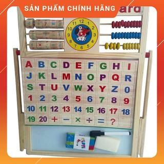 (HÀNG CHUẨN) Bảng gỗ nam châm giáo dục 2 mặt cho bé học chữ cái