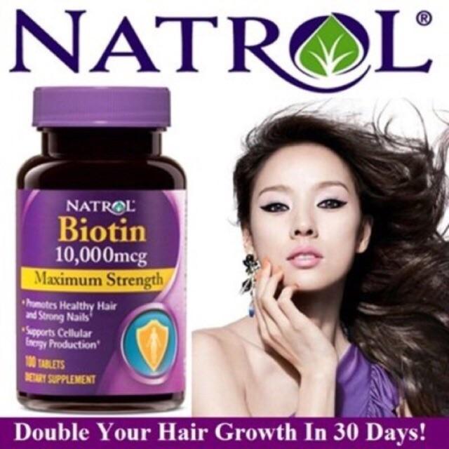 Thuốc mọc tóc, chống rụng tóc Biotin của Mỹ