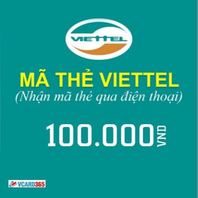 Thẻ viettel 100.000 vnd