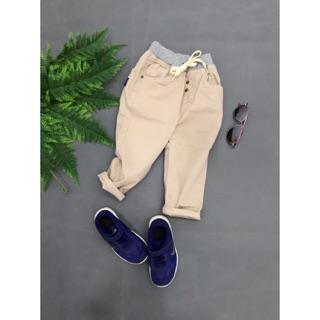 [ XẢ HÀNG] Quần kaki dài cho bé trai, đóng nút, thiết kế mới lạ