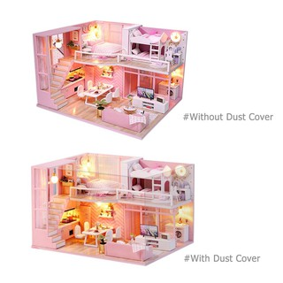 ★Lp★DIY Doll House Dream Angel Wooden Miniature Dollhouse Furniture Kit Toys