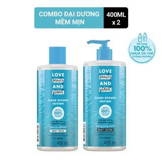 Combo Love Beauty And Planet Đại dương mềm mịn sữa tắm và sữa dưỡng thể 400ml chai thumbnail