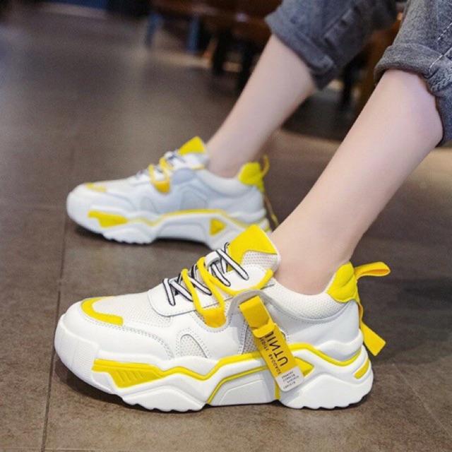 Giày thể thao 3 màu phối dây