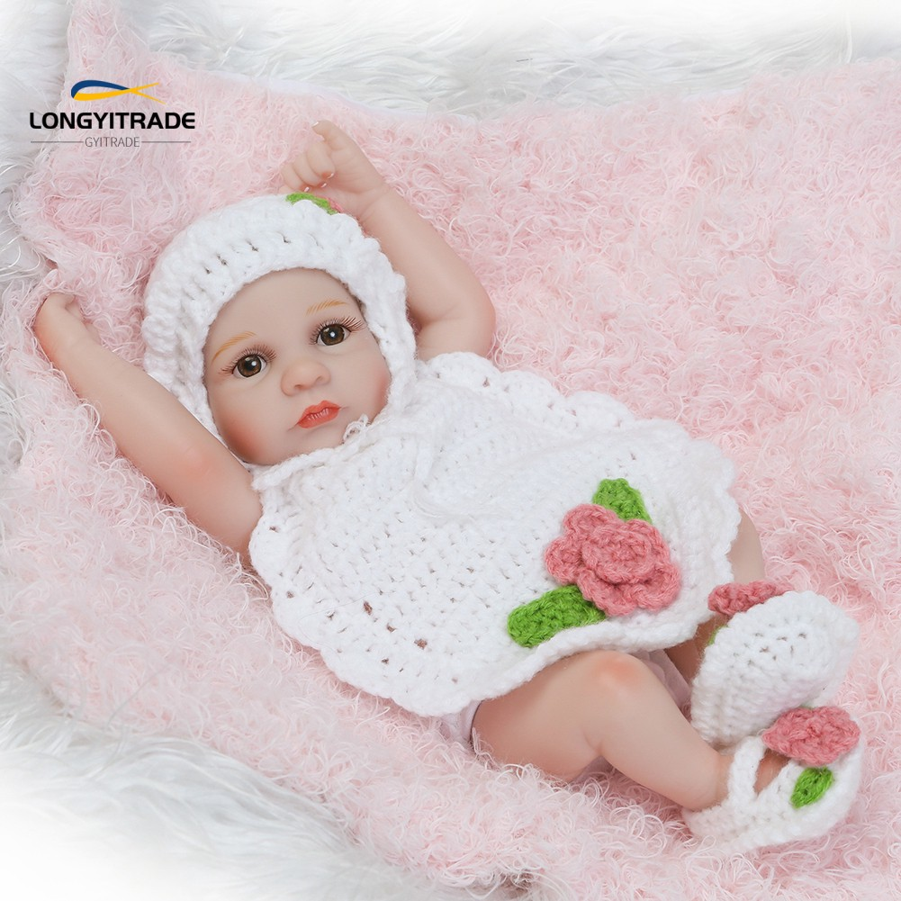 10inch Vinyl Silicone Lifelike  Doll  Kids Pretend Play Toy